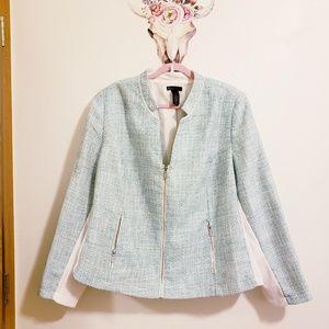 Lane Bryant tweed and stretch knit jacket